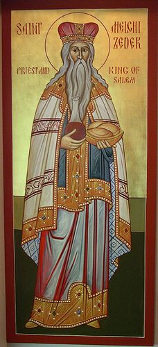 Saint Melchisedek,he startling fact about Melchizedek is that although he was not a Jew, he worshiped God Most High, the one true God. Melchizedek blessed Abram, later to be renamed Abraham, after Abram rescued his nephew Lot from enemy captivity and brought back other people and goods.