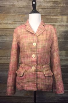 959519da35d Sag Harbor Women s Pink Tweed Work Jacket Blazer Size 8 EUC  SagHarbor   BasicJacket
