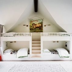 Beautiful and unique bunk beds in any room in your home. (Lonny Mag­a­zine, March 2013)