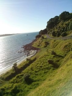 At Mount Maunganui, the North Island, New Zealand, I often used to walk around this, lovely relaxing walk all year round