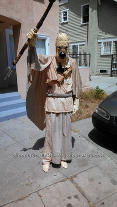 Cool Hand-Sewn Star Wars Tusken Raider Costume… Coolest Halloween Costume Contest