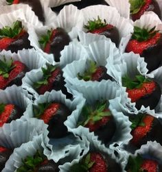 Chocolate dipped strawberries!