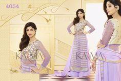 Style: Churidar SuitWork: Embroidered, Sequins WorkFabric: Net