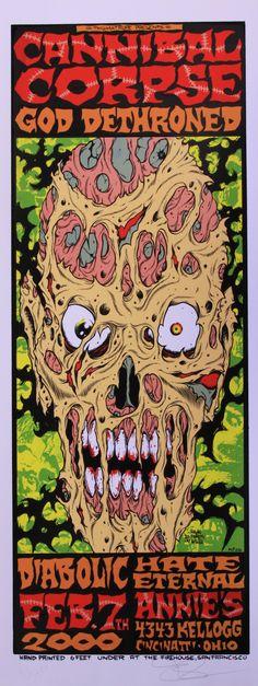 Cannibal Corpse...awesome Vince Locke art.