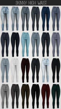 The Sims 4 Elliesimple - Skinny High Waist Sims Four, The Sims 4 Pc, Sims 4 Cas, Sims 1, Mods Sims 4, Sims 4 Mods Clothes, Sims 4 Game Mods, Sims 4 Clothing, Maxis