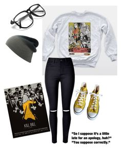 """I speak in movie quotes & song lyrics"" by gardenofroses on Polyvore featuring Converse"