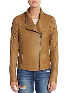 Vince Leather Scuba Jacket - Sierra Silver - Size X Large
