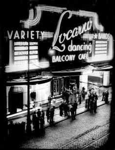 The Locarno or as it was usually called, the dancing or the jiggin'. It was located at the top of Sauchiehall St. in the city centre.