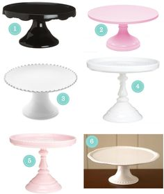 charming cake stands + wedding cakes
