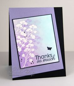 emboss resist w/ multiple gradations of ink and stamping, good tutorial, craftsy classes