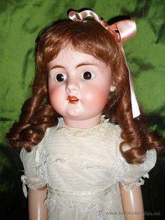 Impresionante Gran muñeca LeConte talla 14 en cuerpo original francés, 76 cm!