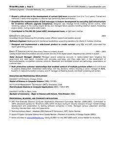 free sample resume for software engineer httpwwwresumecareerinfo