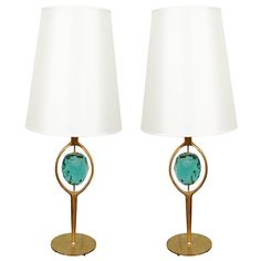 Incredible pair of Table Lamps by Roberto Giulio Rida | From a unique collection of antique and modern table lamps at http://www.1stdibs.com/furniture/lighting/table-lamps/