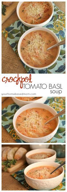 Crock Pot Tomato Basil Soup is delcious and easy to make - the perfect dinner solution