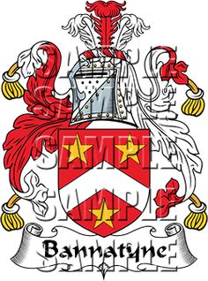 Bannatyne Family Crest apparel, Bannatyne Coat of Arms gifts