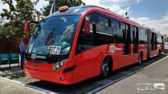 Mercedes benz neobus mega brt congreso internacional de transporte sustentable de México parque bicentenario CD México.