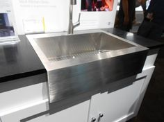 kitchen and bath show day 3 top picks bobu0027s blogs stainless steel farmhouse - Stainless Steel Apron Sink