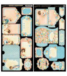Graphic 45 Precious Memories Tags & Pockets Cardstock Die-Cuts