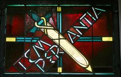Glasmalerei Temperantia. Wilhelm Schmitz-Steinkrüger , 1930 Fenster im Seitenschiff Antikglas/Blei/Schwarzlot