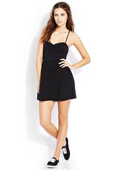 Laid Back Ruched Dress | FOREVER21 - 2000070149.  that back though!!! so pretty