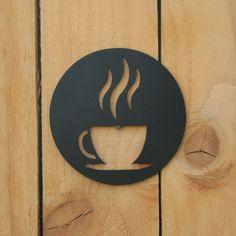 Metal Wall Art, Wood Art, Cafe Interior Design, Coffee Shop Design, Cafe Shop, Plasma Cutting, Metal Artwork, Coffee Signs, Metal Projects