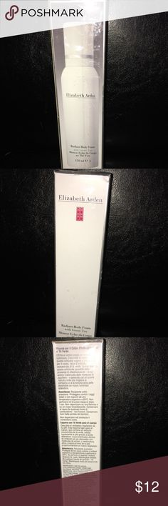Elizabeth Arden Radiant Body Foam with Green Tea Unopened, brand new.  Reveal your body skin's true radiance. Pamper your skin with this light, airy body foam, infused with concentrated green tea extract. Gently exfoliates. Elizabeth Arden Makeup Brushes & Tools