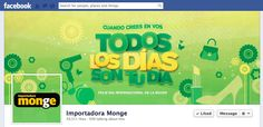 Facebook Cover Día Internacional de la Mujer 2013  Cliente: Importadora Monge