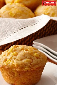 This quick and easy Creole-flavored, cheesy corn muffins recipe will surely spice up any breadbasket. Sprinkle in some Zatarain's Original Creole Seasoning and serve them up with your choice of Creole-inspired soup or seafood gumbo to create a new Creole Recipes, Cajun Recipes, Donut Recipes, Muffin Recipes, Seafood Recipes, Cooking Recipes, Haitian Recipes, Louisiana Recipes, Cajun Food