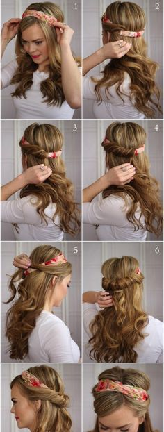 Easy, So-Pretty Hairstyles You Can Do in Under 5 Minutes: Here are our favorite fast hairstyles for short hair, long hair, and everything in between. Fast & Easy Hairstyle For When You're Running Late Back To School Hairstyles, Easy Hairstyles For Long Hair, Scarf Hairstyles, Pretty Hairstyles, Braided Hairstyles, Wedding Hairstyles, Fast Hairstyles, School Hairdos, Hairstyle Ideas