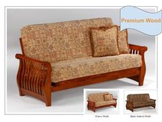 Full Size Nightfall Premium Wood Futon Bed Package by Night & Day