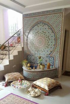 Moroccan Living room ideas, tiles, Archways and Doorways. Are you mesmerized by the detailed architecture and vivid colors of Morocco? How about bringing that beautiful culture into your home? In this post, you will learn how to infuse Moroccan elements i Moroccan Decor Living Room, Moroccan Home Decor, Moroccan Interiors, Moroccan Design, Moroccan Style, Living Room Decor, Moroccan Room, Moroccan Furniture, Furniture Decor