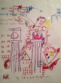 Basquiat drawing davidcharlesfoxexpressionism.com #jeanmichelbasquiat #basquiat…