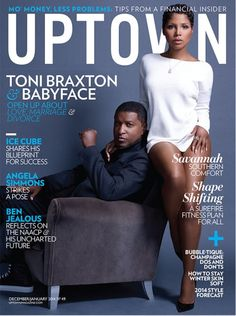Toni Braxton And Babyface Cover UPTOWN Magazine Dec/Jan 2014 (photo) : Old School Hip Hop Radio Station, Online Radio Station, News And Gossip