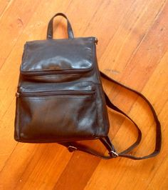 Vintage 1990's mini backpack leather purse by Exacta on Etsy