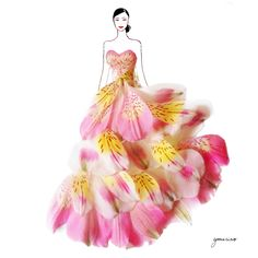 Fashion-Design-Illustrations-Sketched-with-Real-Flower-Petals-6