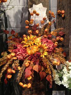 autumn floral centerpieces - Google Search Floral Centerpieces, Flower Arrangements, Thanksgiving Flowers, Autumn, Fall, Wreaths, Google Search, Simple, Home Decor