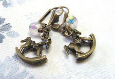 """Ohrhänger - Vintage """"Pferdchen"""" - ein Designerstück von Gentle-Breeze bei…"""