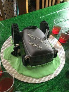 #Cake #Fergie #tractor #Grey #little Pastel de cumpleaños