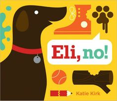Eli and his antics are depicted in clean, graphic spreads with a fresh and modern palette