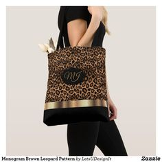 Shop Monogram Brown Leopard Pattern Tote Bag created by LetsUDesignIt. Monogram Tote Bags, Printed Tote Bags, Brown Leopard, Cheetah, Tote Pattern, Leopard Pattern, Louis Vuitton Monogram, Shoulder Bag, Stylish