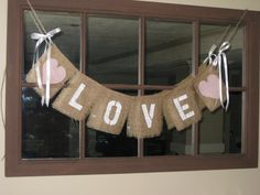 LOVE Burlap Wedding Banner / Photo Prop with by 2PerfectionDecor, $23.00
