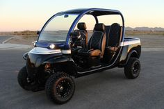LIFTED GEM CAR 4 SEAT LIMO GOLF CART w/ EVERY POSSIBLE OPTION ...