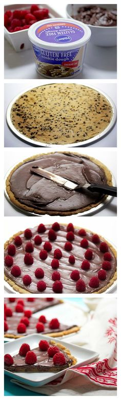 3-ingredient Gluten-Free Chocolate Cookie Pizza means dessert for all!