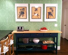 This is what I wanted (ikea Norden island) for my craft room. I can't seem to find it at my ikea though. Buffet Ikea, Ikea Console Table, Norden Gateleg Table, Painted Kitchen Island, Ikea Makeover, Painted Sideboard, Painted Furniture, Little Green Notebook, Ikea Frames