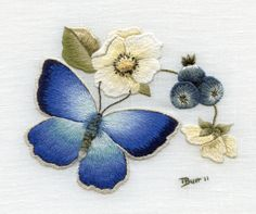 Adonis Blue Butterfly - In Stock | Trish Burr Embroidery