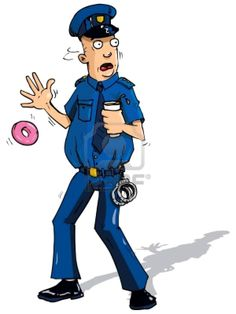 Is it really necessary to include a donut in most pictures of cops?...of course it is.