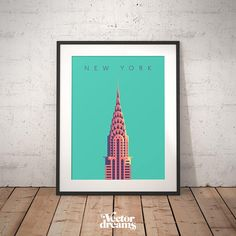 Chrysler Building New York Art Deco Vintage Minimal