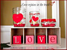 Homespun With Love: Valentine Love Candles