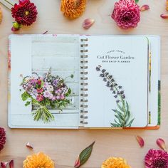 Floret Farm's Cut Flower Garden 2018 Daily Planner. The daily pages were designed so that there's plenty of room to record important dates, and reminders, plus all of your finding and notes from the garden. My hope is that this planner will both inspire and support you, plus get scribbled in and well-worn over the coming months as you create and tend the garden of your dreams. Available from Floret.