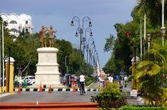 Paseo de Montejo Merida Mexico is a scenic and wide avenue
